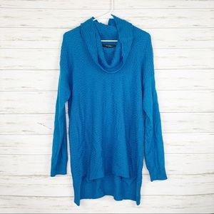 89th & Madison | Blue Cowl Neck Sweater